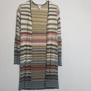 Chico's long zigzag cardigan or sweater